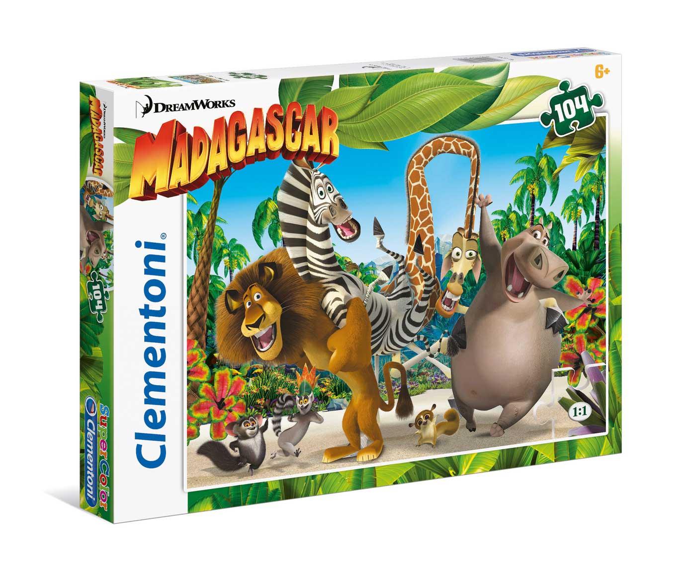 Puzzle Clementoni Madagascar de 104 Piezas