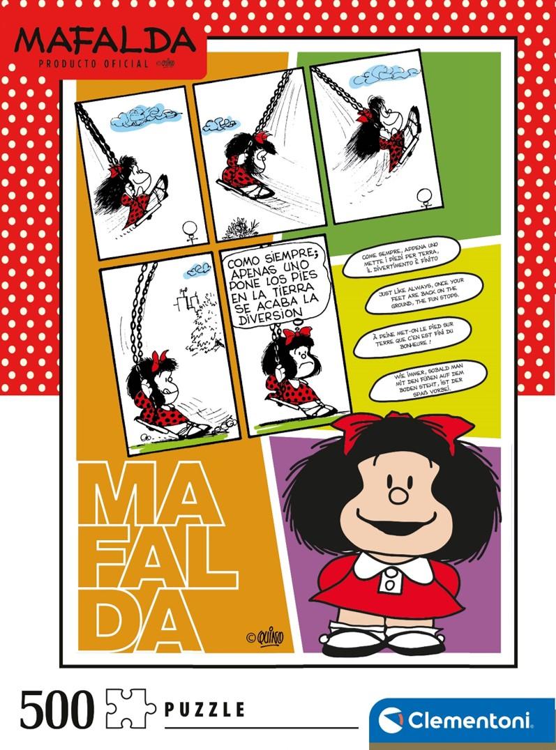 Puzzle Clementoni Mafalda Columpio de 500 Piezas