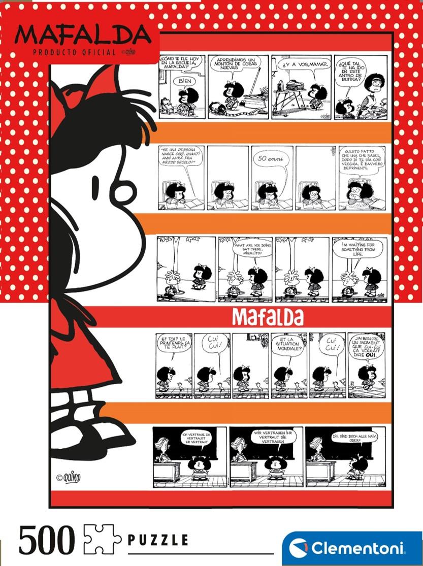 Puzzle Clementoni Mafalda Cómic de 500 Piezas
