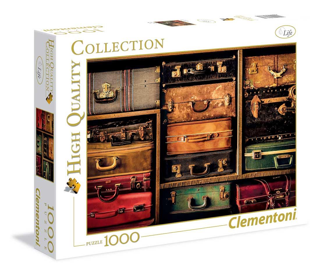 Puzzle Clementoni Maletas de Viaje de 1000 Piezas