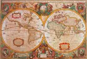 Puzzle Clementoni Mapa Antiguo de 1000 Piezas