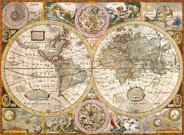Puzzle Clementoni Mapa Antiguo de 3000 Piezas