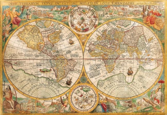 Puzzle Clementoni Mapa Antiguo del Mundo de 2000 Piezas