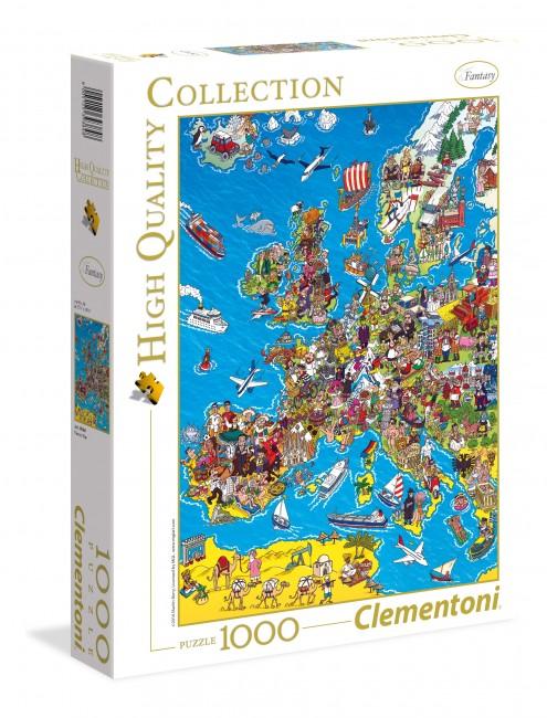 Puzzle Clementoni Mapa de Europa de 1000 Piezas