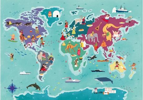 Puzzle Clementoni Mapa de Tradiciones por el Mundo de 250 Pzs