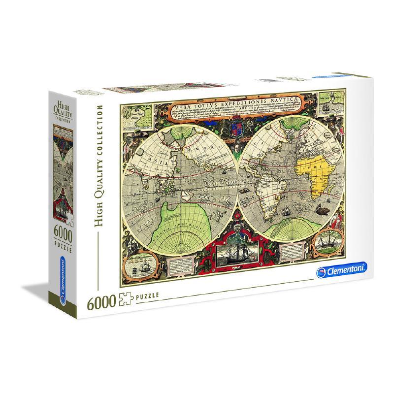 Puzzle Clementoni Mapa Náutico Antiguo 6000 Piezas