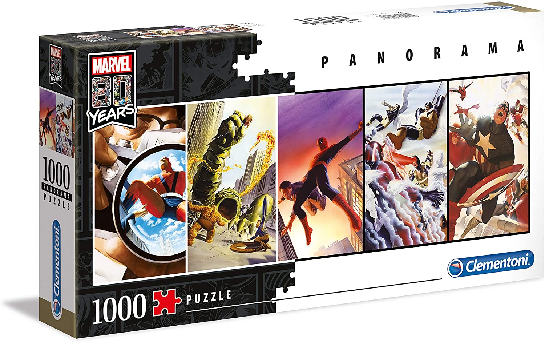Puzzle Clementoni Marvel Años 80 Panorama de 1000 Pzs