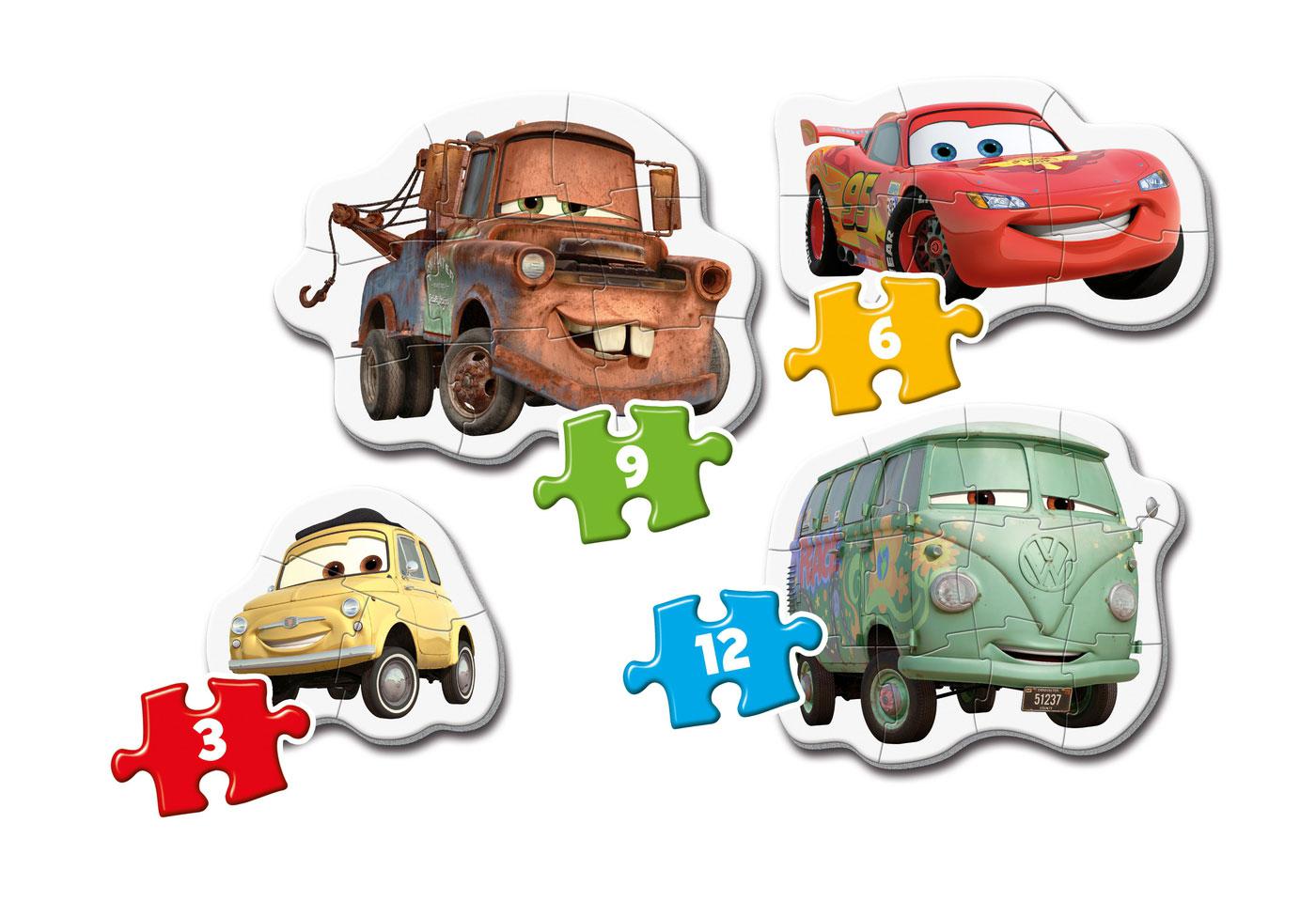 Puzzle Clementoni Mi Primer Puzzle Cars 3-6-9-12 Pzs.