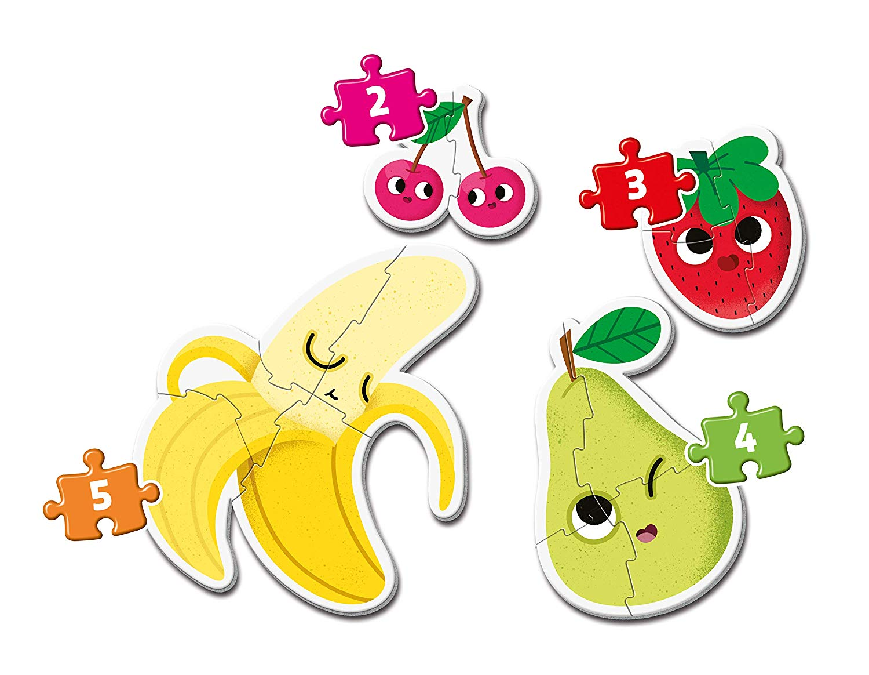 Puzzle Clementoni Mi Primer Puzzle Frutas 2-3-4-5 Pzs.