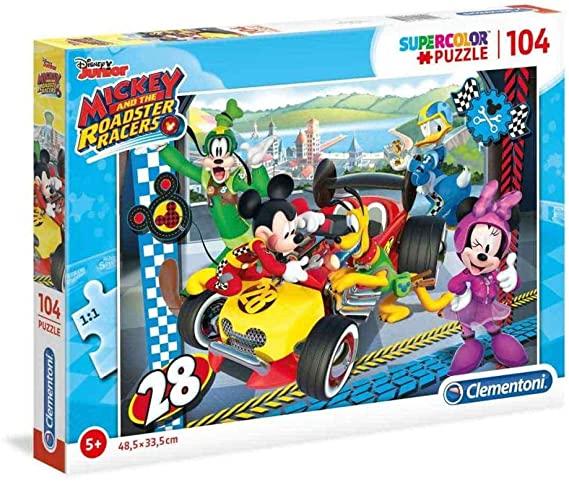 Puzzle Clementoni Mickey Roadster Race de 104 Piezas
