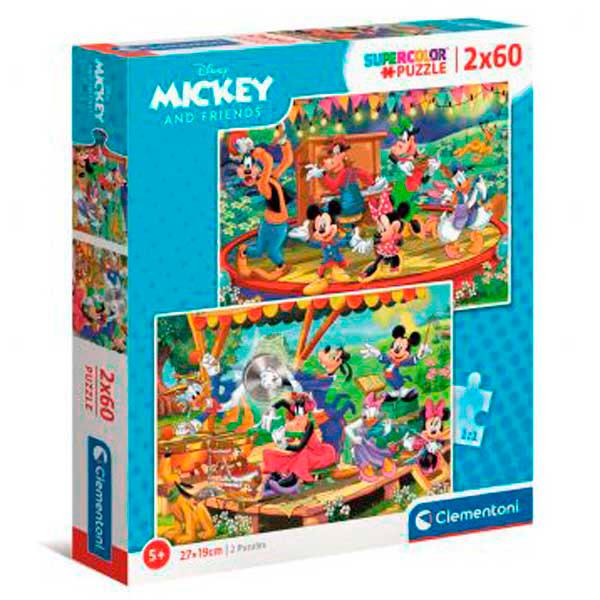 Puzzle Clementoni Mickey y Amigos de 2 x 60 Piezas