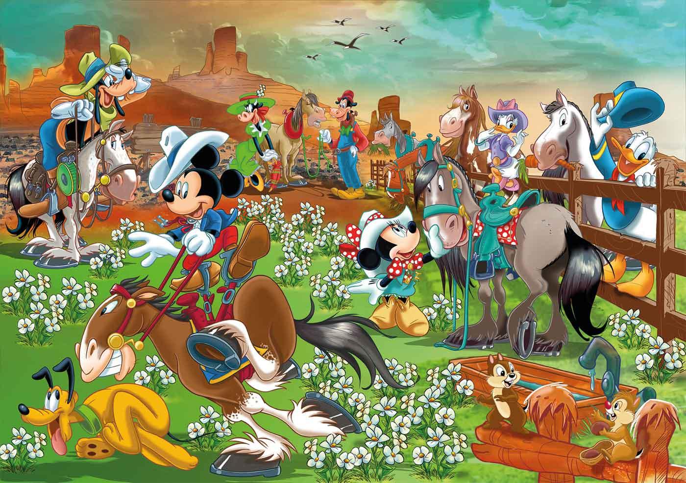 Puzzle Clementoni Mickey y Amigos Maxi de 104 Pzs
