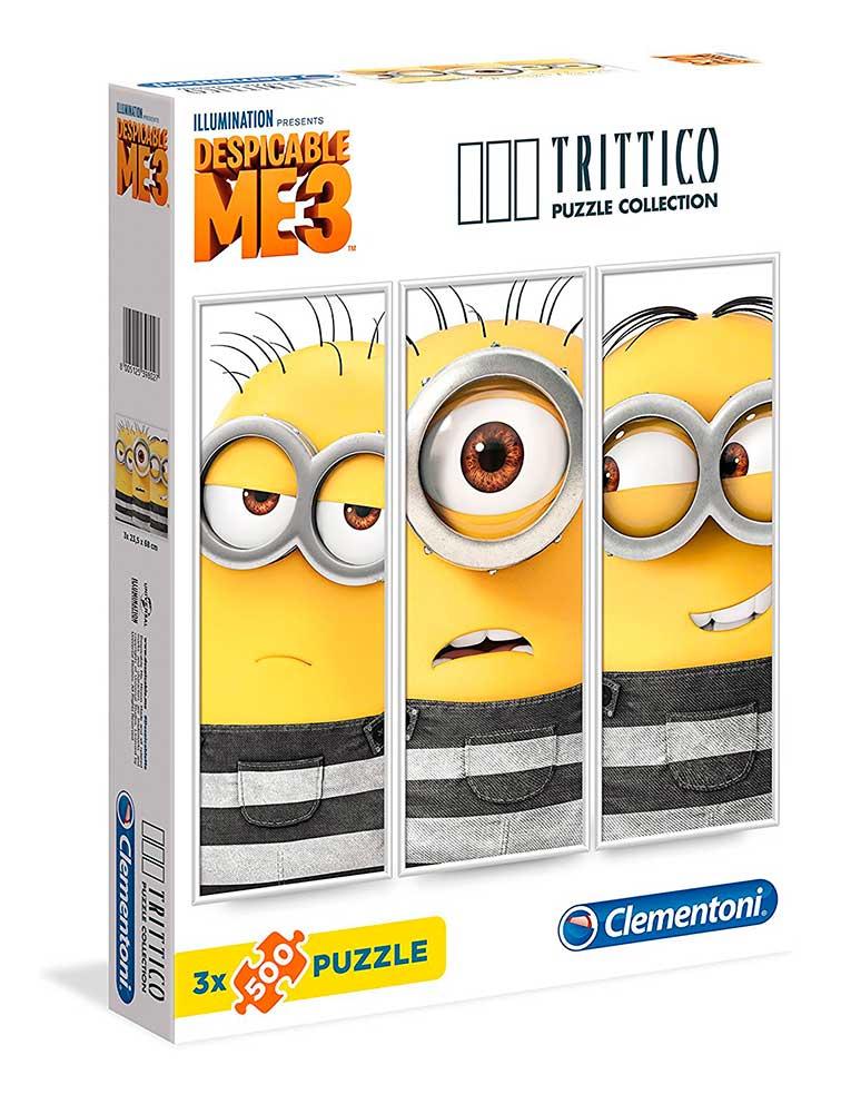 Puzzle Clementoni Minions Tríptico 3 x 500 Piezas