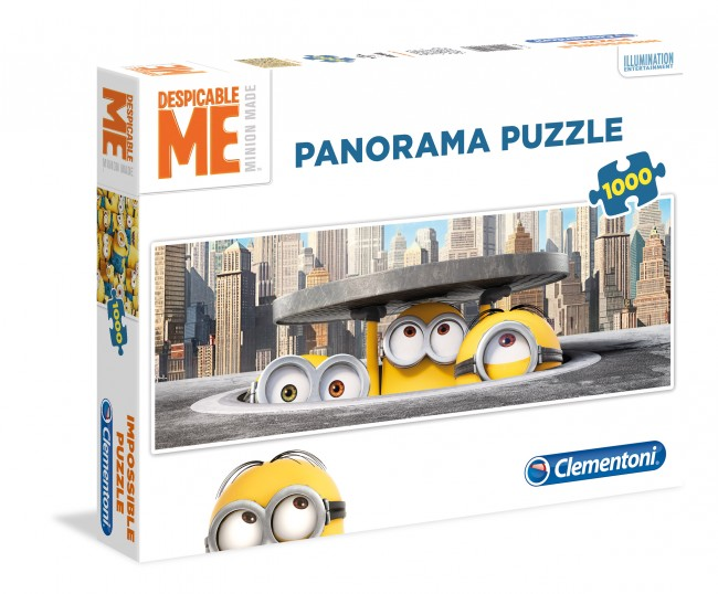 Puzzle Clementoni Minions, Vista de la Calle de 1000 Piezas