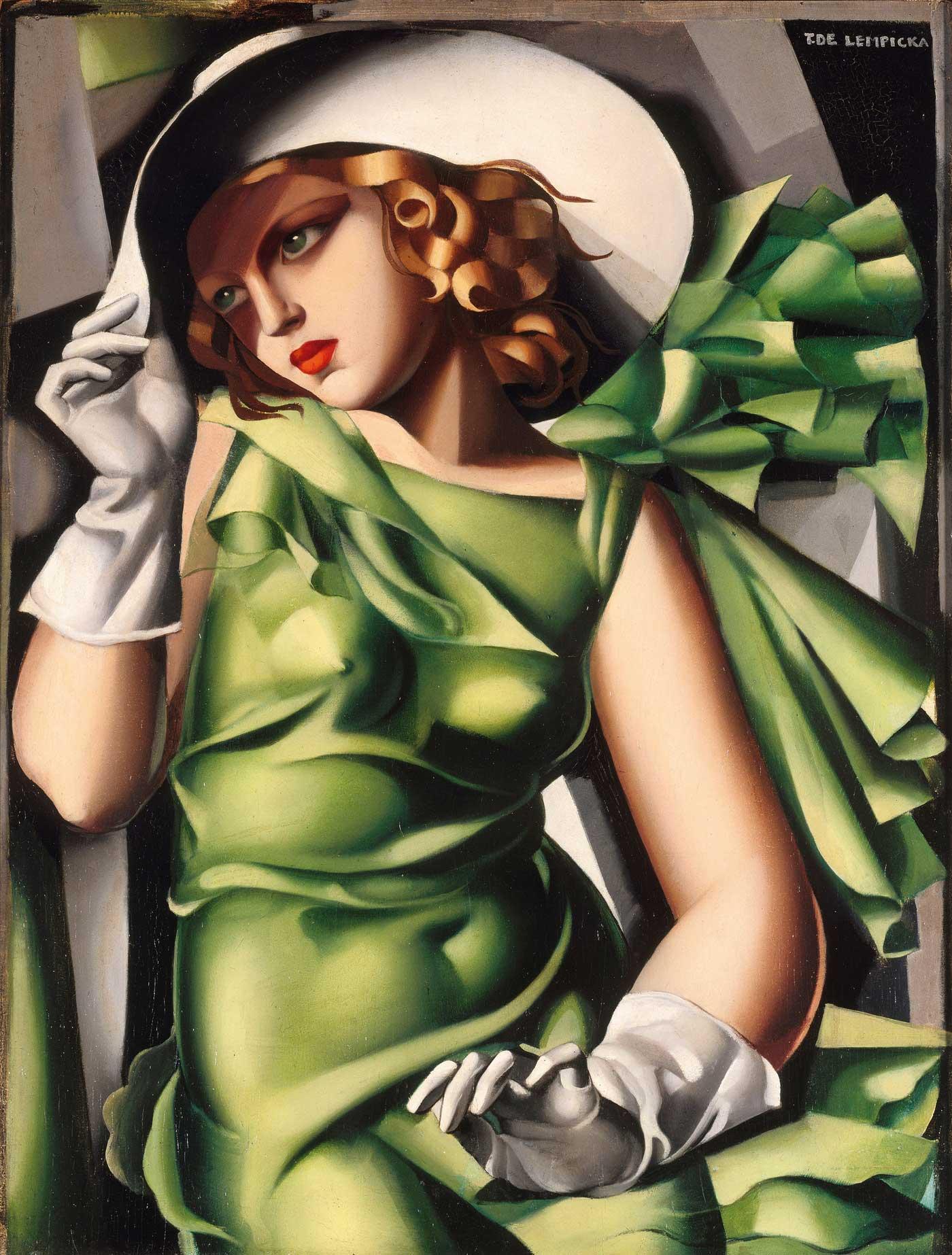 Puzzle Clementoni Mujer de Vestido Verde de 1000 Piezas