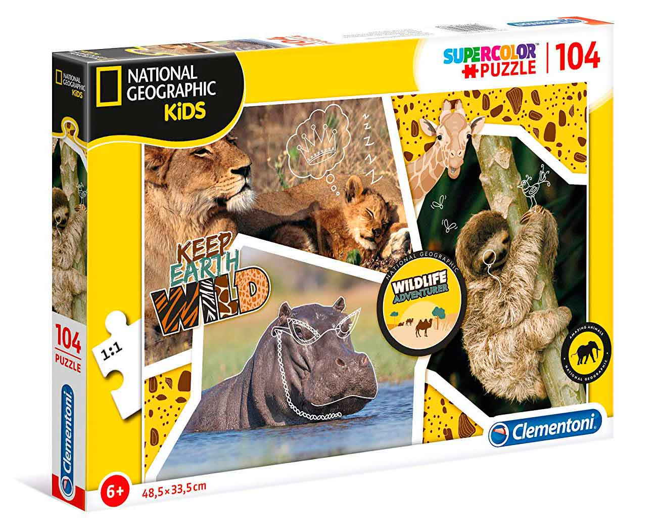 Puzzle Clementoni National Geographic Keep Herth Wild de 104 Pzs