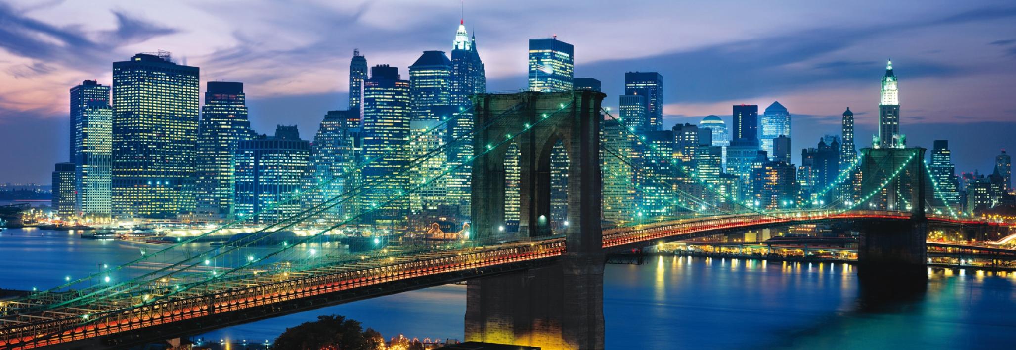 Puzzle Clementoni New York, Puente de Brooklyn de 1000 Piezas
