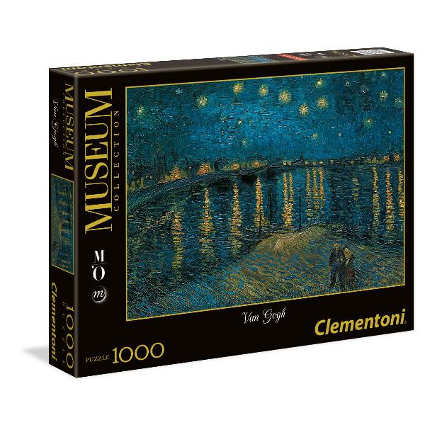 Puzzle Clementoni Noche Estrellada Sobre el Ródano de 1000 Pieza