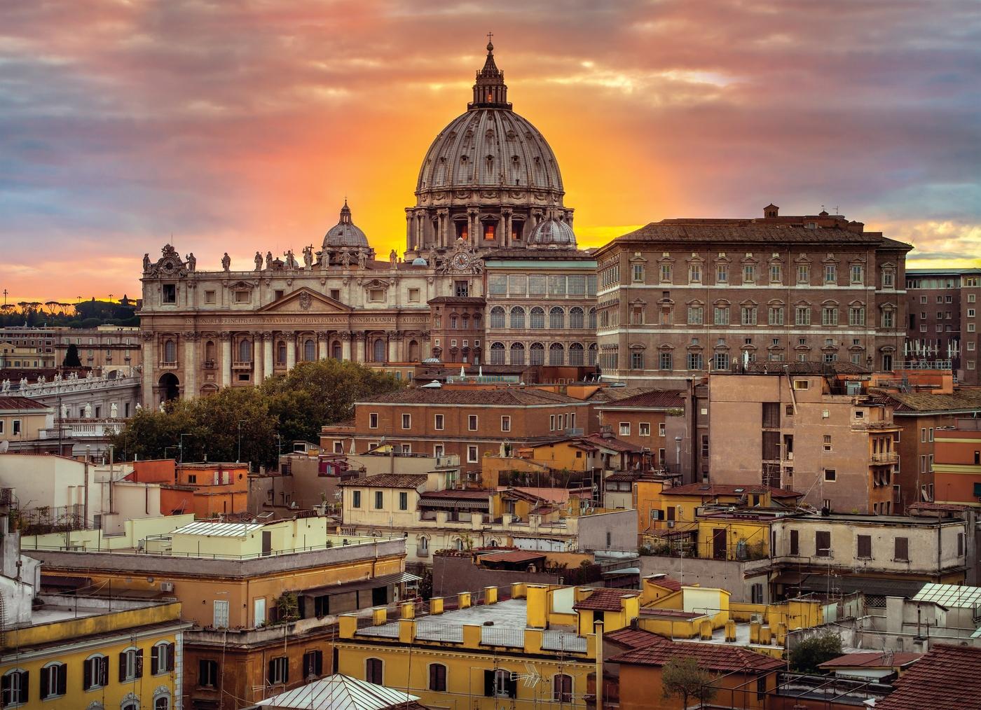Puzzle Clementoni Paisaje de Roma de 1000 Piezas