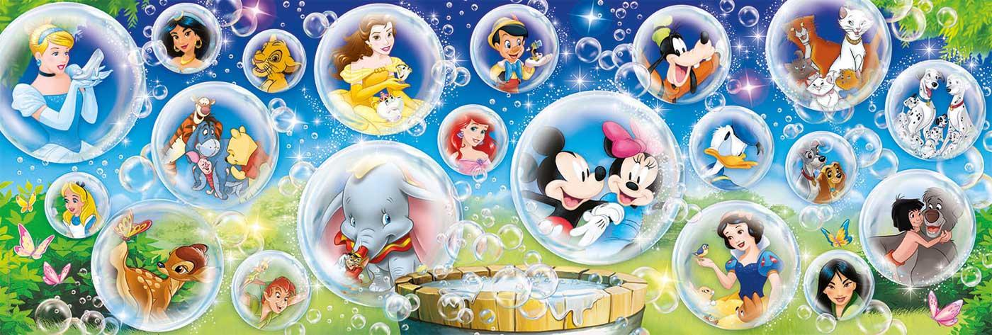 Puzzle  Clementoni Panorama Clásicos Disney de 1000 Piezas