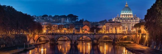 Puzzle Clementoni Panorama de Roma de 1000 Piezas