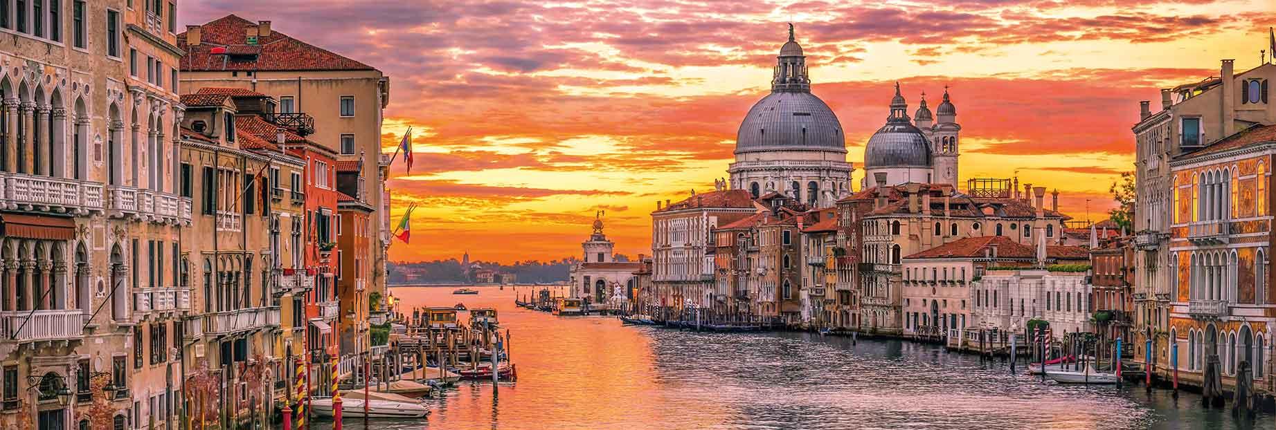 Puzzle Clementoni Panorámica Gran Canal de Venecia 1000 Piezas