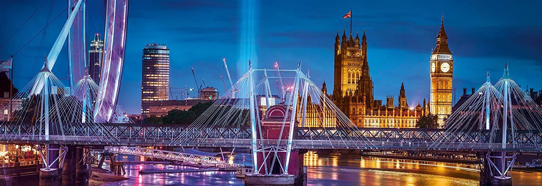 Puzzle Clementoni Panorámica Nocturna de Londres de 1000 Piezas