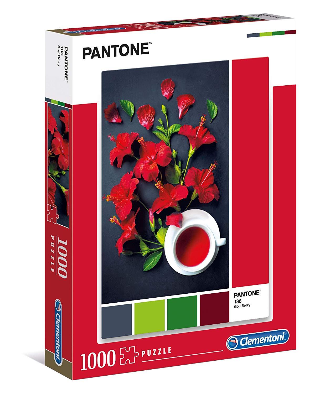 Puzzle Clementoni PANTONE 186, Aroma de Flor de Hibisco de 1000