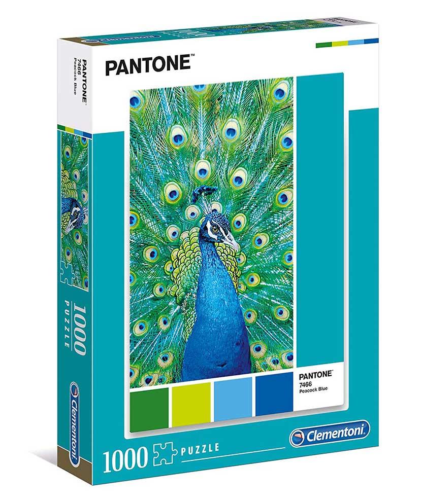 Puzzle Clementoni PANTONE 7466, Pavo Real de 1000