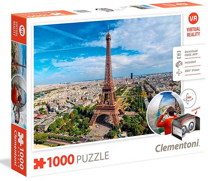 Puzzle Clementoni VR París de 1000 Piezas