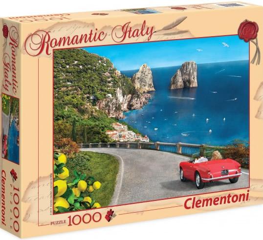 Puzzle Clementoni Paseo Romántico, Capri de 1000 Piezas