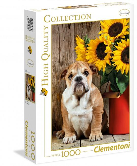 Puzzle Clementoni Perro Bulldog de 1000 Piezas