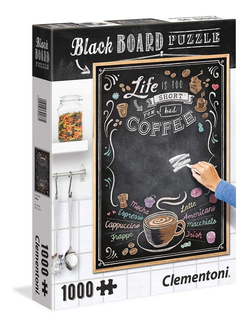 Puzzle Clementoni Pizarra Café de 1000 Piezas