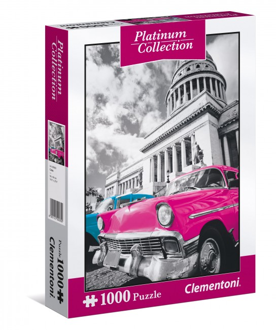 Puzzle Clementoni Platinum Coches de Cuba 1000 Piezas