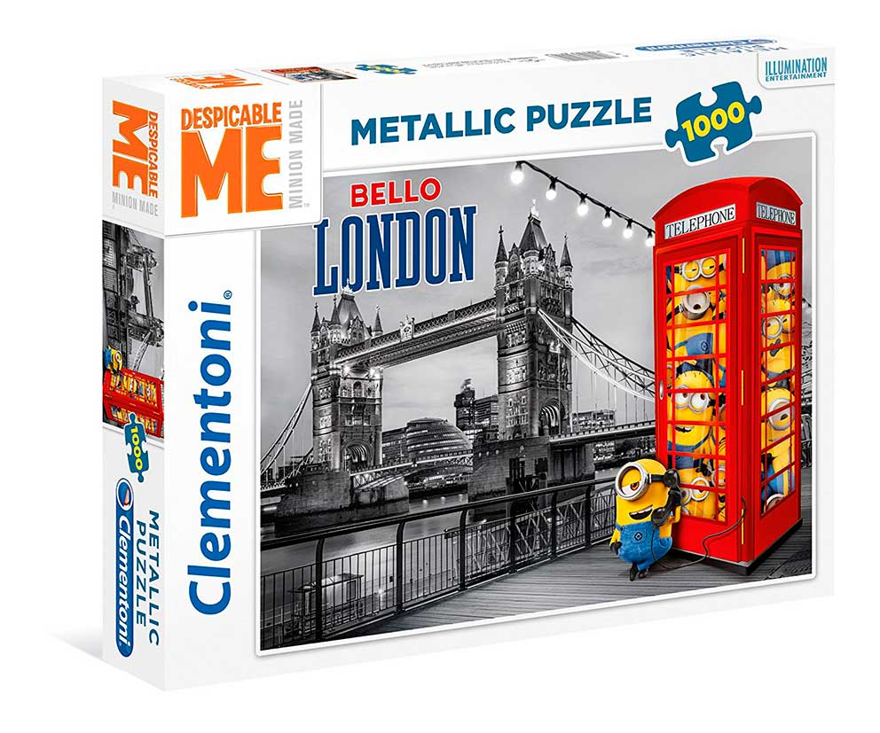 Puzzle Clementoni Platinum Minions, Cabina Telefónica 1000 Pzas