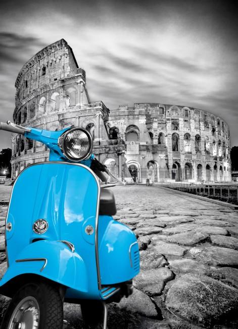 Puzzle Clementoni Platinum Vespa en el Coliseo, Roma 1000 Piezas