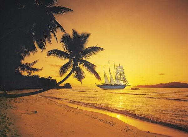 Puzzle Clementoni Playa Seychelles de 1000 Piezas