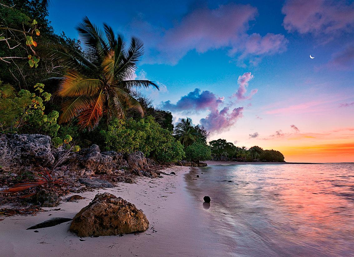 Puzzle Clementoni Playa Tropical de 1000 Piezas