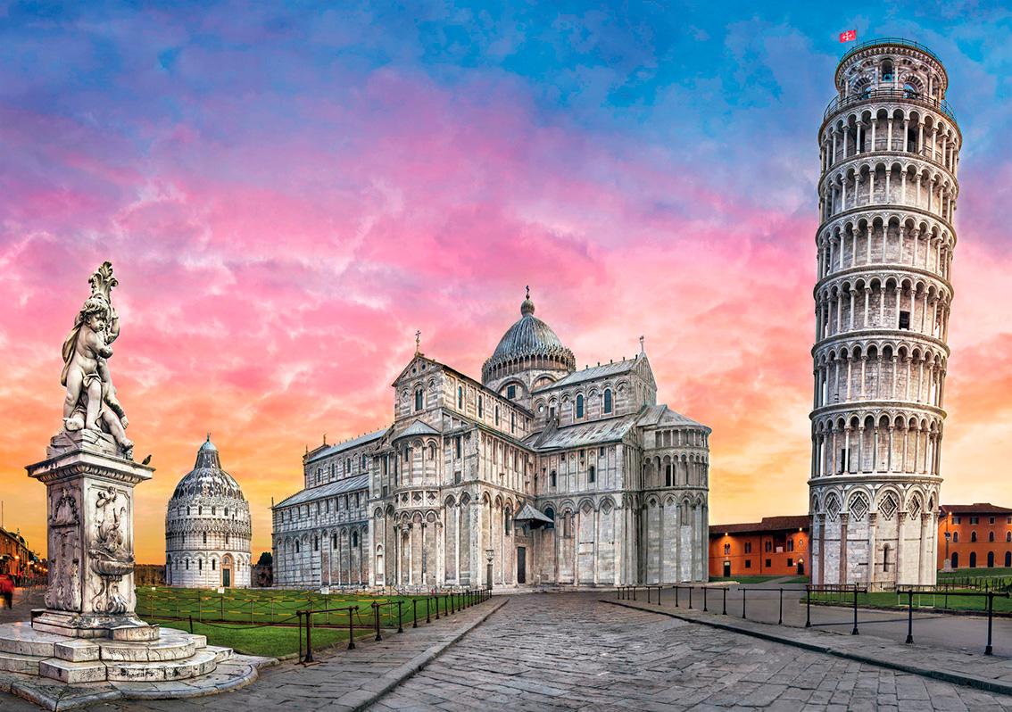 Puzzle Clementoni Plaza de la Torre de Pisa de 1500 Piezas