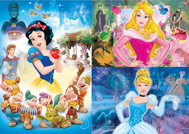 Puzzle Clementoni Princesas Disney 3 x 48 Piezas