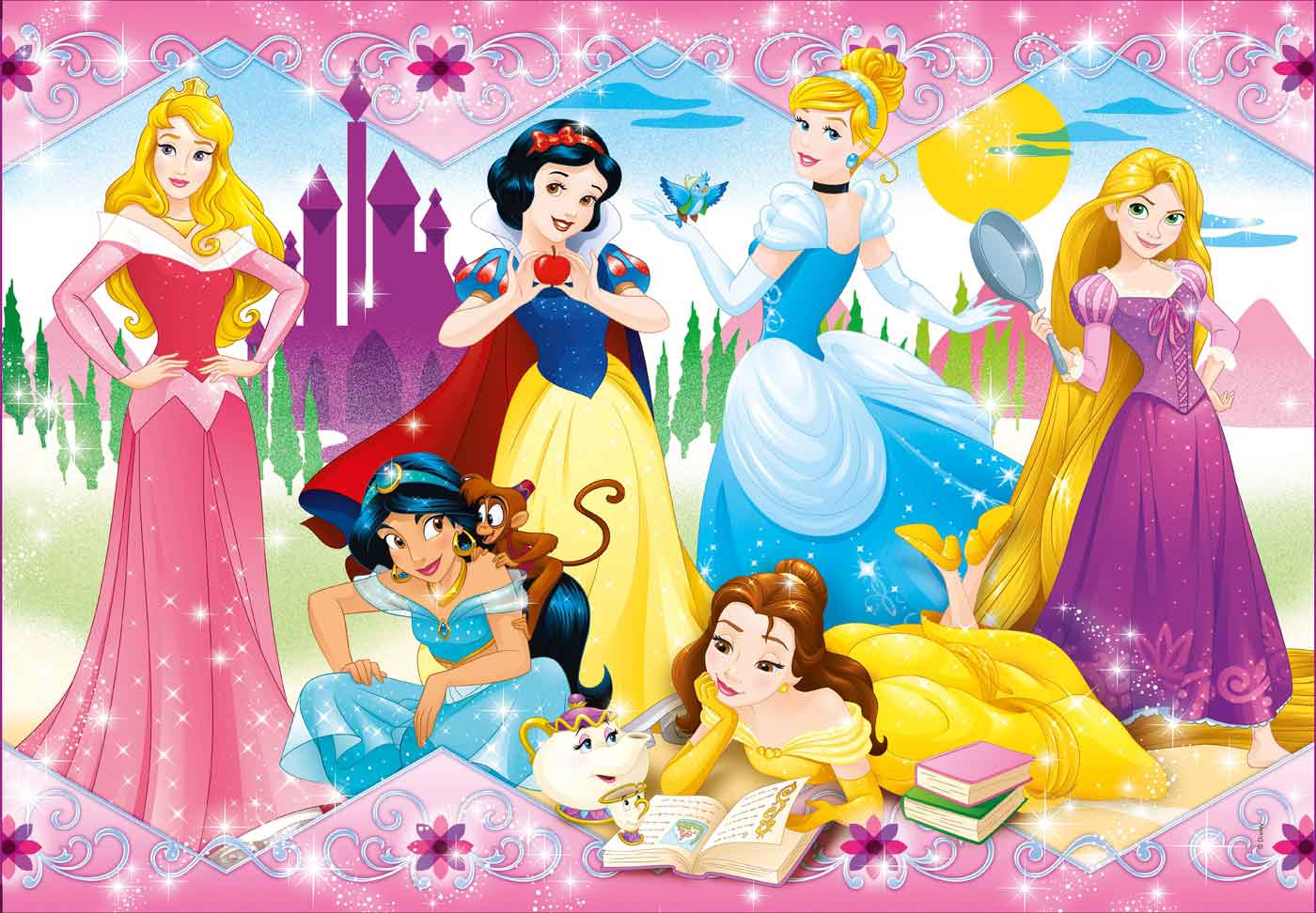 Puzzle Clementoni Princesas Disney de 104 Piezas