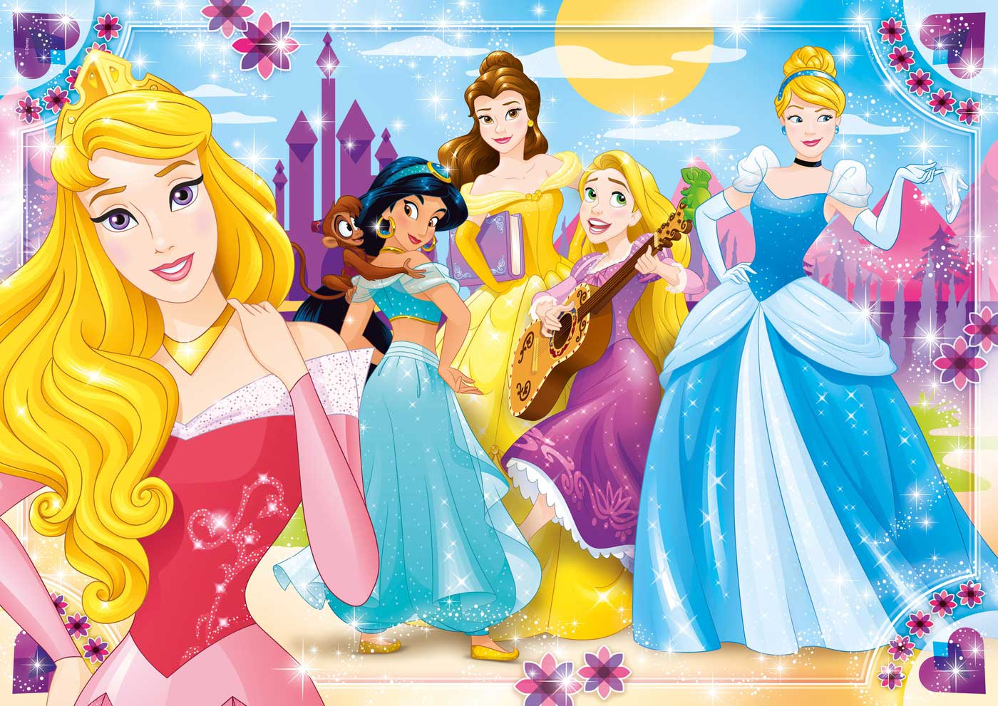 Puzzle Clementoni Princesas Disney Maxi 104 Piezas