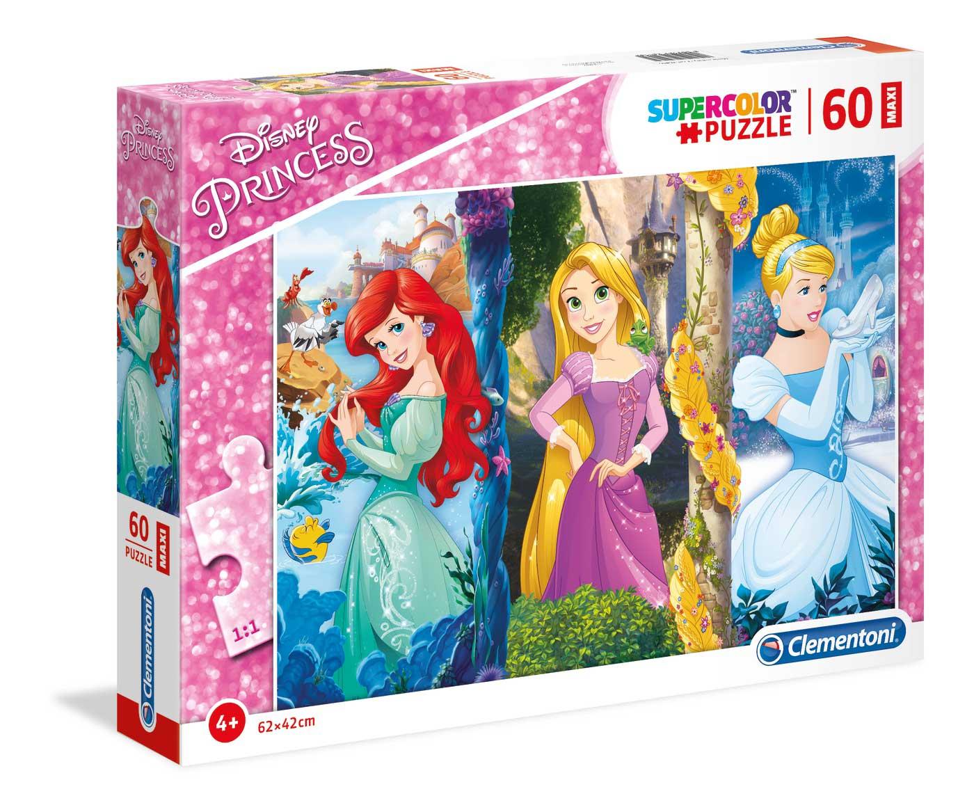 Puzzle Clementoni Princesas Disney Maxi 60 Piezas