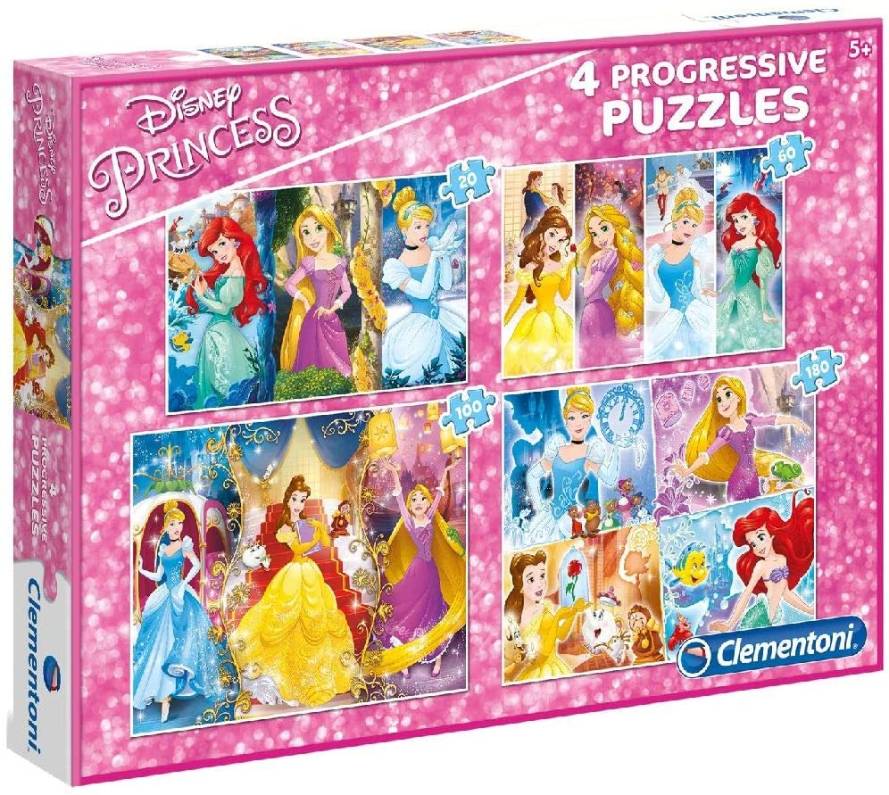 Puzzle Clementoni Progresivo Princesas 20-60-100-180 Pzs.
