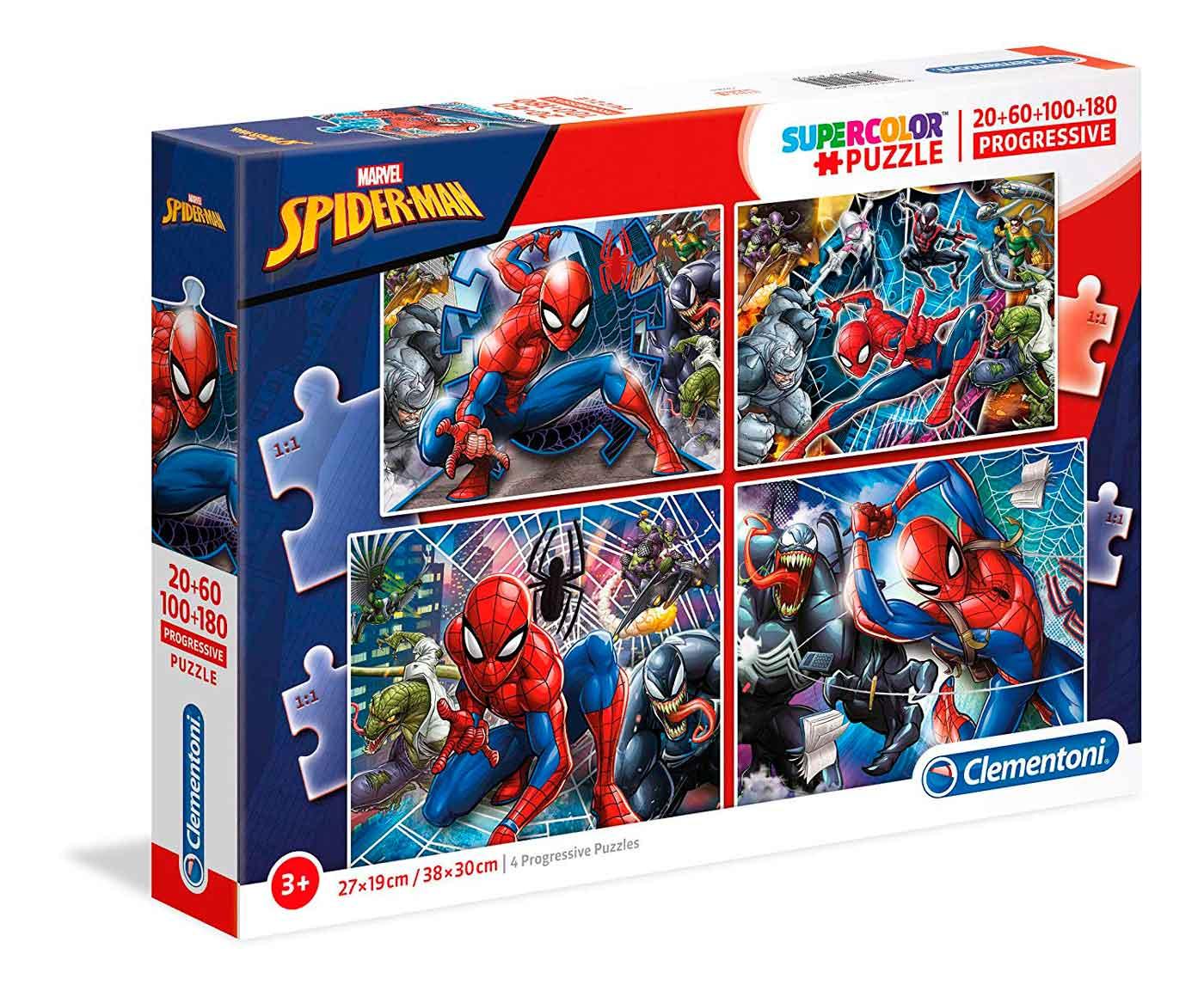 Puzzle Clementoni Progresivo Spiderman 20-60-100-180 Pzs.