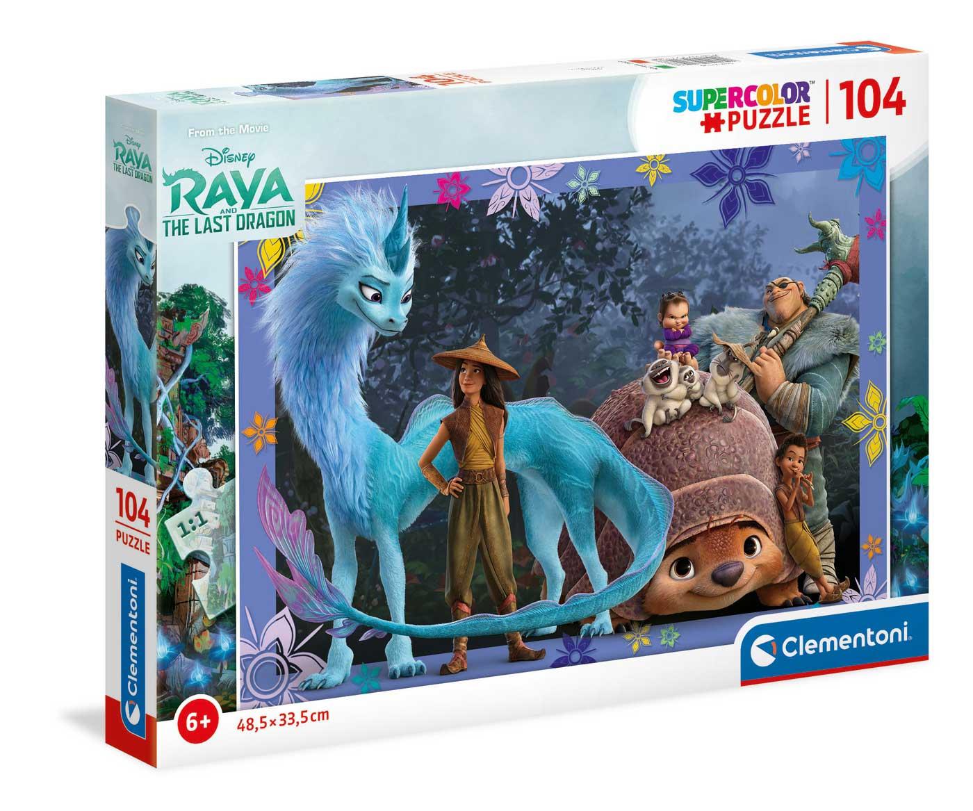 Puzzle Clementoni Raya y El Último Dragón de 104 Piezas