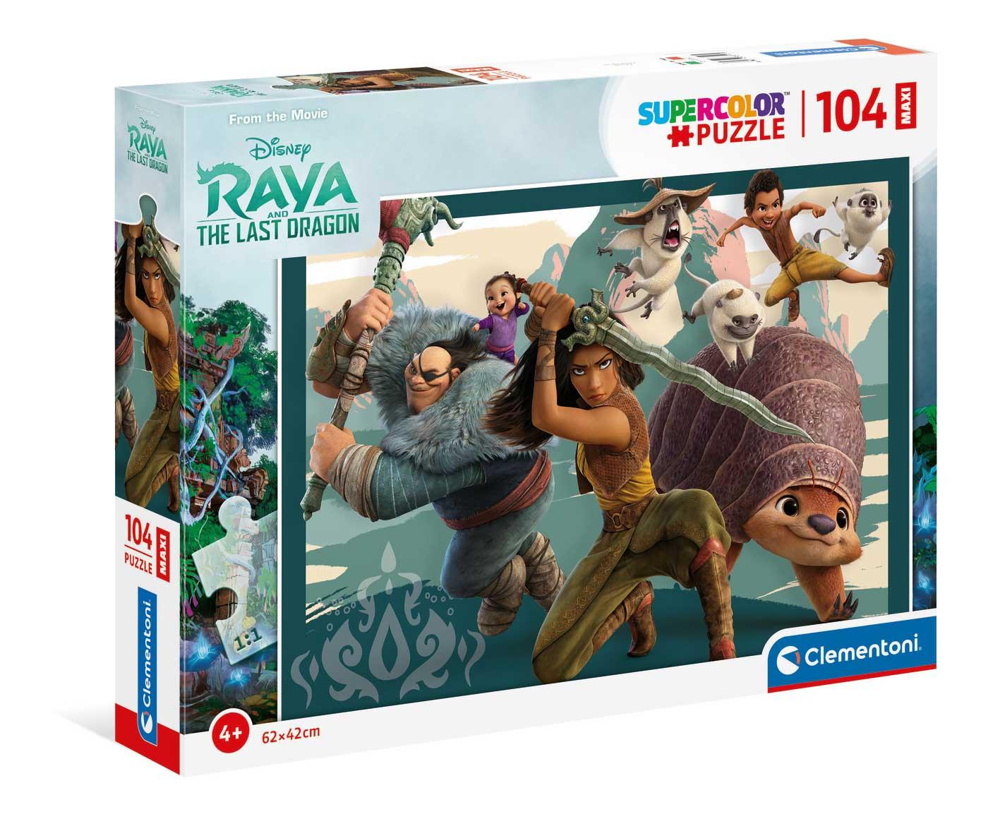 Puzzle Clementoni Raya y el Último Dragón Maxi de 104 Pzs