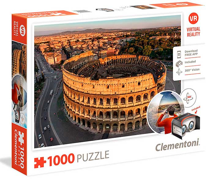 Puzzle Clementoni Realidad Virtual Roma de 1000 Piezas