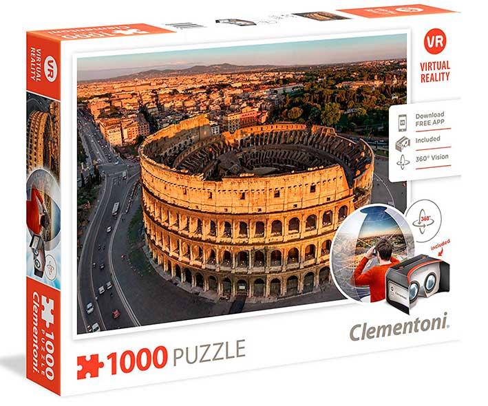 Puzzle Clementoni VR Roma de 1000 Piezas