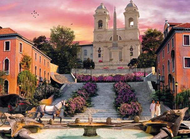 Puzzle Clementoni Roma Romántico de 1000 Piezas